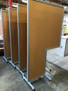 Custom and Standard Safety Dividers with Clear Acrylic and Aluminum Extrusion Frames