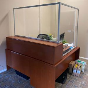 (3) Custom Office Safety Dividers Made with Engineered Aluminum and Clear Acrylic